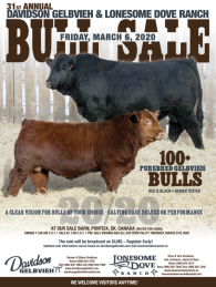 Click here to see the Davidson Gelbvieh 2020 Bull Sale ad.