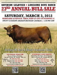 Click here to see the Davidson Gelbvieh 2012 Bull Sale catalogue.